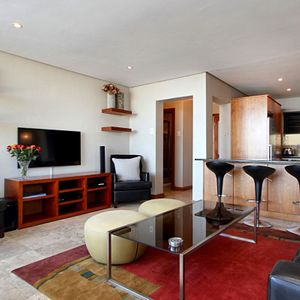 TV & Living area; PANORAMA APARTMENT - Camps Bay