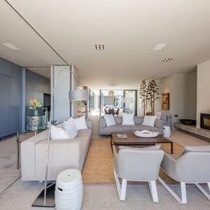 Open plan living area; LOADER PENTHOUSE - De Waterkant