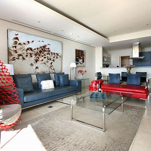 Lounge to Kitchen; PEMBROKE LUXURY - V&A Waterfront Marina