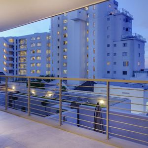 Balcony with side view; 204 FAIRMONT - Sea Point