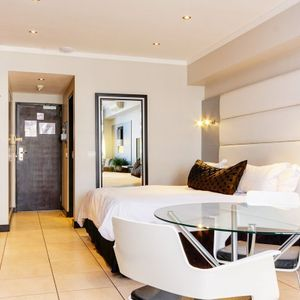 Master bedroom; ICON 1700 - Cape Town City Centre