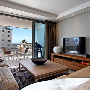 Living area & TV; FAIRMONT 201 - Sea Point