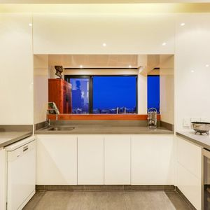 Kitchen and view; 129 OCEAN VIEW PENTHOUSE - Green Point