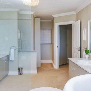 Master Bedroom En-suite Bathroom; CABANA BAY - Llandudno