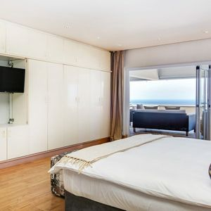 Master bedroom & view; OCEAN SYMPHONY - Camps Bay