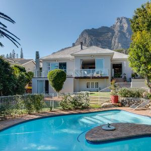 Exterior with pool & mountain view; VILLA 13 - Camps Bay