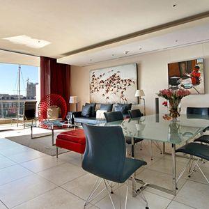 Open Plan Living Area; PEMBROKE LUXURY - V&A Waterfront Marina