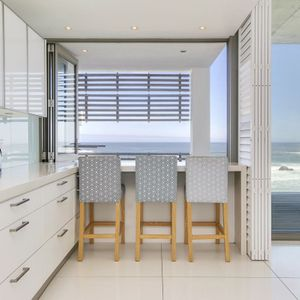 Kitchen & serving counter; VIEWS PENTHOUSE - Camps Bay