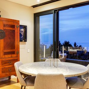 Dining area and view; 129 OCEAN VIEW PENTHOUSE - Green Point