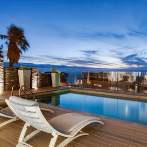 Pool with loungers; MEDBURN ALCOVE - Camps Bay