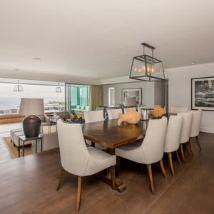 Open plan dining; VICTORIA APARTMENT - Camps Bay