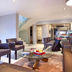 Living & dining area; MEDBURN ALCOVE - Camps Bay