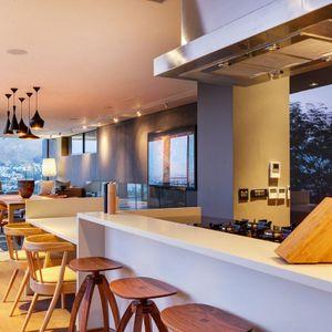 Open plan kitchen; 2 on HILDENE - Tamboerskloof