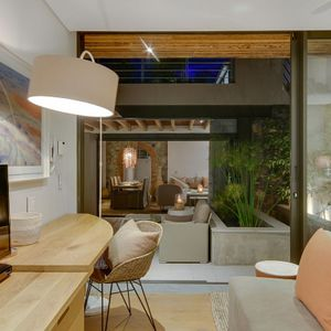 Third bedroom with TV; STONE ARCH - De Waterkant