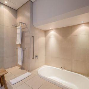 Master bathroom; LOADER APARTMENT - De Waterkant