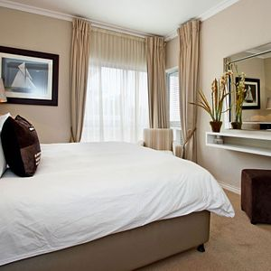 Master bedroom & dressing table; THE FLEUR - Camps Bay