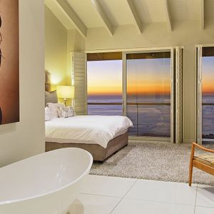 Master bedroom & bath tube; FALCON VIEWS - Camps Bay