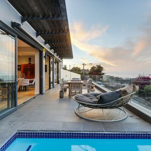 Balcony with seating; 129 OCEAN VIEW PENTHOUSE - Green Point