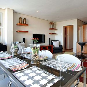 Dining & TV area; PANORAMA APARTMENT - Camps Bay