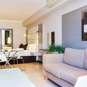 Living, dining area & bedroom; ICON 1700 - Cape Town City Centre