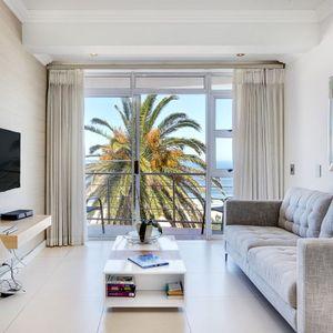 Living area & TV; SEASONS 1 BEDROOM - Camps Bay