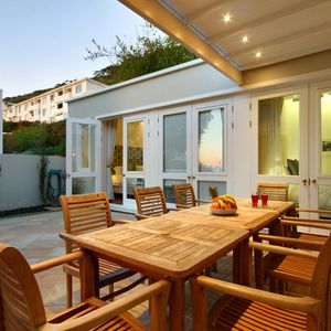 Outdoor dining area; SELBOURNE - Sea Point