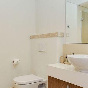 Bathroom with toilet; 205 CANAL QUAYS - Foreshore