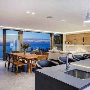 Open plan living; SKYLINE VILLA - Camps Bay