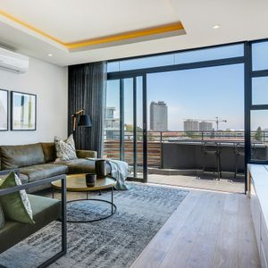 Lounge with TV; PENTHOUSE ON POINT - Green Point