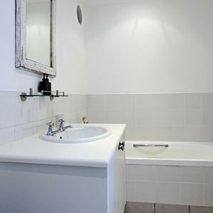 Bath & hand basin; BUNGALOW ON 4th - Clifton