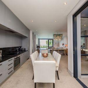 Open plan kitchen; LOADER VILLA - De Waterkant