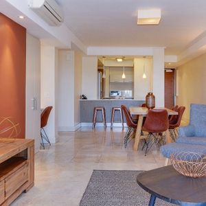 Living area and kitchen; 507 CANAL QUAYS - Foreshore