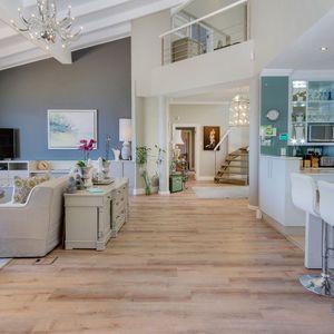 Living area with Staircase; CABANA BAY - Llandudno