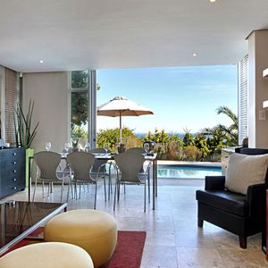 Living & dining area; PANORAMA APARTMENT - Camps Bay