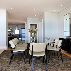 Dining area; MEDBURN PENTHOUSE - Camps Bay