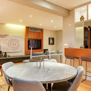 Dining table; 129 OCEAN VIEW PENTHOUSE - Green Point