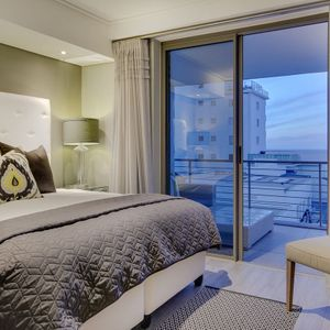 Master bedroom with view; 204 FAIRMONT - Sea Point