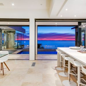 Views from Kitchen & dining area; CRIMSON SKY - Camps Bay