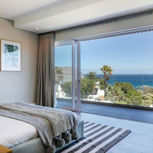 Second bedroom & Views; ROMAN VILLA - Camps Bay