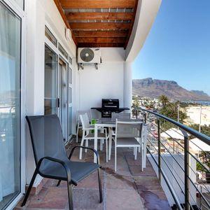 Balcony & Views; SEASONS 1 BEDROOM - Camps Bay
