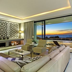 Living area with sea views; THE LOOK OUT - Camps Bay