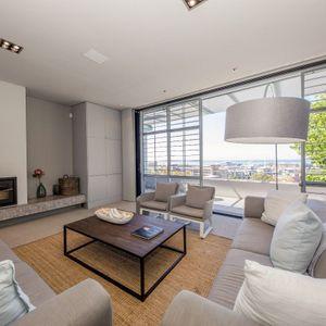 Upstairs living room; LOADER VILLA - De Waterkant