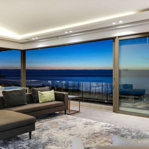 Living room with views; SKYLINE - Camps Bay
