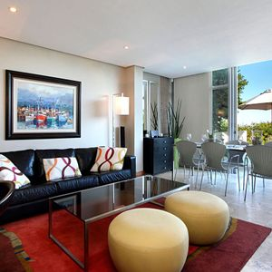 Living area; PANORAMA APARTMENT - Camps Bay