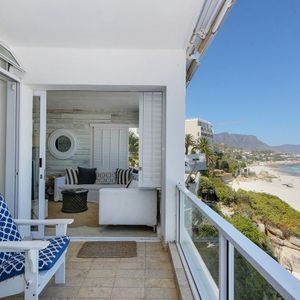 Balcony with seating; SAND & SEA - Clifton