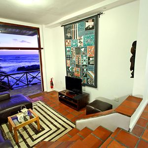 Living area & TV ; CAMPS BAY TERRACE -  Camps Bay