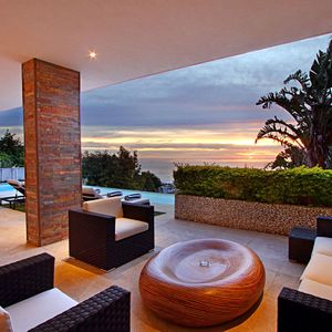 Outdoor living area; ANDARA - Camps Bay