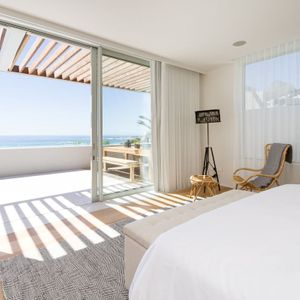 Master bedroom with views; Topaz - Camps Bay