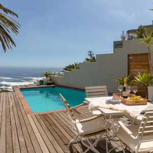 Deck with pool and views; CAMPS BAY STEPS - Camps Bay