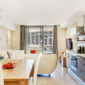 Living area and Kitchen; 403 CANAL QUAYS - Foreshore